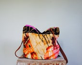 SAMPLE///Vintage Carpet Pouch//with Strap