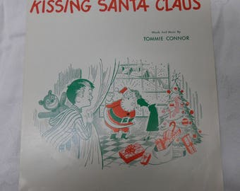 I Saw Mommy Kissing Santa Claus Sheet Music by Tommie Connor 1952