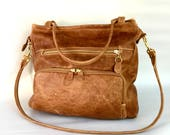 leather willow bag in antique golden brown