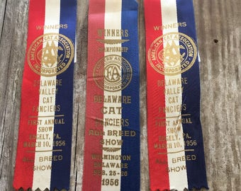 Vintage Cat  Show Winners Ribbons Fantastic Memorabilia Collection