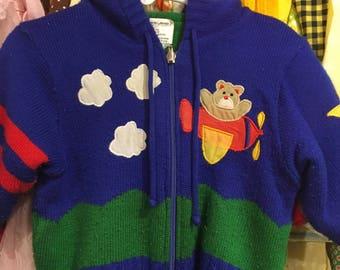 80s REVERSIBLE Cardigan Coat 12/18 Months