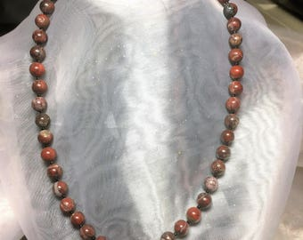 Simple Brecciated Jasper Necklace #476