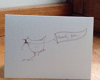 Silly Chicken 'thank you' card