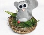 Squirrel Nest, Summer Decoration, Mantle Decoration, Wedding Table Centerpiece, Woodland Decoration, Baby Squirrel