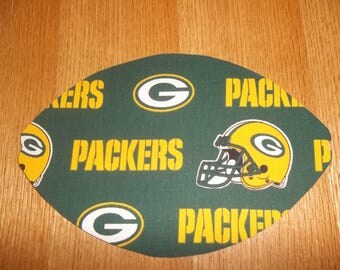 Mouse Pad, NFL, Green Bay Packers, Mouse Pads, Mousepad, Desk Accessories, Mouse Mat, Office Decor, Football Shape, Computer Mouse Pad, Gift