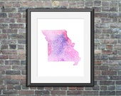 Missouri watercolor typog...
