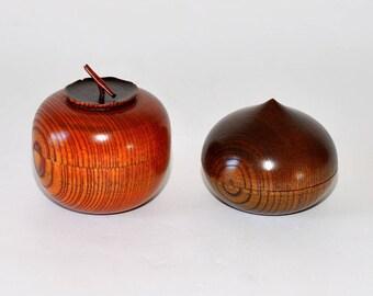 Vintage Japanese Urushi 漆 Lacquerware Bentwood Jars , Pair