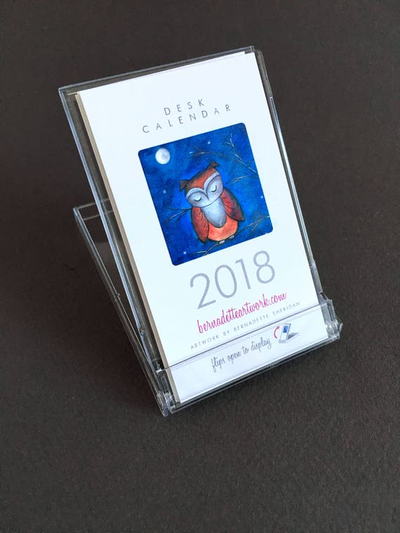 Set of 30 - 2018 mini desk calendars - cats, owls, snowmen, gift for coworkers, small desk calendar, 2018 calendar with stand, FREE SHIPPING