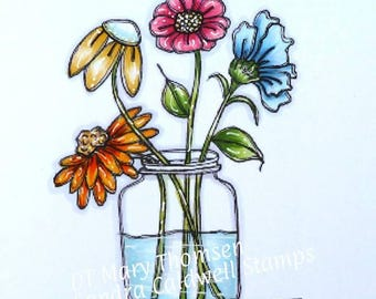 1676 Picked Flowers Digi Stamp