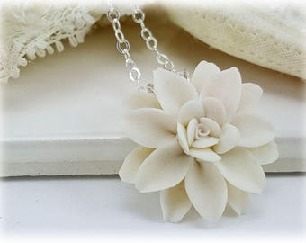 Dahlia Necklace  - Dahlia Jewelry, More Colors Available