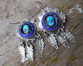 Turquoise Shadowbox Earrings