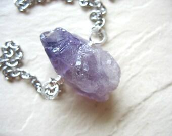 Amethyst Necklace, Amethyst Gemstone Stone Chain Necklace, Statement Amethyst Necklace, Gemstone Jewelry, Pendant Necklace, Amethyst Jewelry