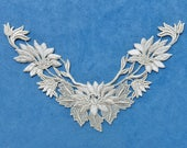 Vintage Lace Yoke, Front Applique ... Trailing Flowers and Leaves