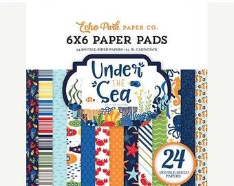 ON SALE Echo Park Under the Sea 6x6 Paper Pad
