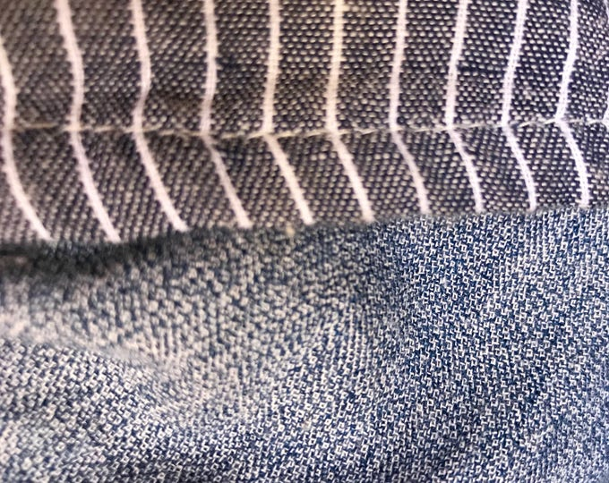 Pinstriped lagenlook big pocket skirt
