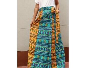 Handmade 8 Pieces floral Thai batik Sarong patchwork long comfortable wear wrap skirt fit all size (BT 13)