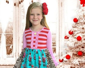 Christmas Nutcracker Ballet girl's toddler holiday portrait dress Momi boutique girl's dress