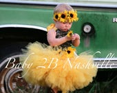 Camo Dress Yellow Sunflow...
