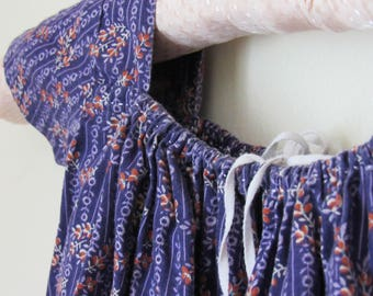 Late 18th - Early 19th Regency Baby Girls Boone Frock Drawstring Dress