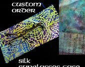 Custom sunglasses pouch in silk for Lindi Williams
