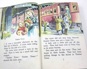 This is Our Town Vintage 1940s or 1950s Children's Faith and Freedom Reader or Textbook by Ginn and Co.
