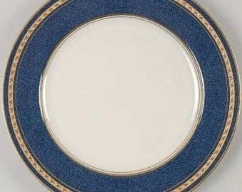 Vintage Mikasa, Imperial Lapis by Mikasa, Pattern Number: L2826, Elegant China, Fine Porcelain Plate, Regal Gold & Blue,