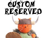 CUSTOM RESERVED For Michelle, Felt pincushion cat, Stuffed cat, Cute cat decor, Sewing gift, For cat lover