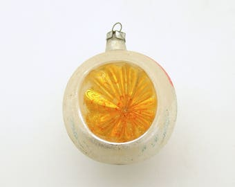 Vintage Christmas Glass Ornament Indent Reflector