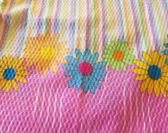 Daisy DotsDouble Border Cooton Fabric New