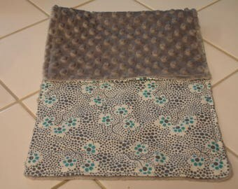 Forget Me Not in Sugar Baby Burp Cloth 9 x 20 READY TO SHIP