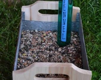 GARDEN SALE Fennel Garden Stake, Gardener, Gift Plant Stake, Garden Stake