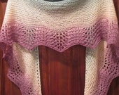 MOTHERSDAY Spring Meadow Scalloped Hand-knit Scarf