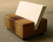 Wood Business Card Holder - For Desk - Wood Office Accessories - Wood Office Décor - Modern Wood - Desktop - Business - Card Display