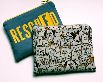 RESCUED Coin Pouch to support Viipurin Koirat dog rescue organization