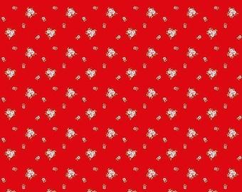 ON SALE Riley Blake Designs A Little Sweetness By Tasha Noel Vintage Red