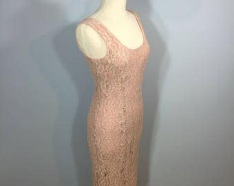 lace dress, Ursula of Switzerland, pink lace dress, summer lace dress, summer wedding dress, formal event dress