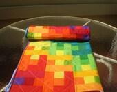 Handmade baby quilt, Rainbow baby quilt, baby quilt, Puzzle quilt, patchwork crib quilt, baby boy quilt, baby girl bedding, Rainbow Puzzle