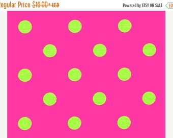 ON SALE PINK Lime Polka Dot Table Runner , Polka Dot Lime Chartreuse on Candy Pink,  Parties Wedding Bridal Home Decor Chic  Other colors av