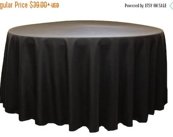 ON SALE SOLID Color Tablecloth, Colors, Sizes,  Round banquet table, Wedding, Bridal, Shower, Party, Event