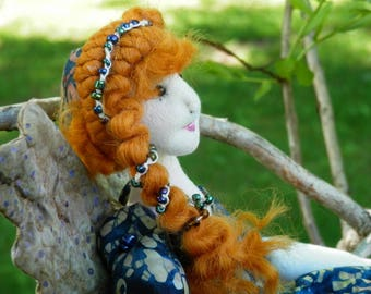 Doll, soft doll, handmade, art doll, fairy, wood nymph, whimsical