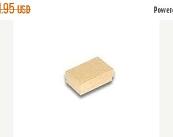 STOREWIDE SALE 100 Pack of 2.5X1.5X1 Inch Size Kraft Cotton Filled Jewelry Gift Merchandise Boxes