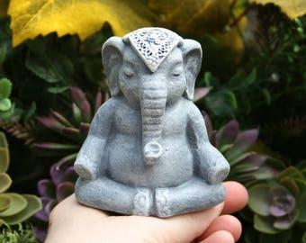 Ganesha Statue - READY TO SHIP - Mini Elephant Statue - Lucky Elephant - Yoga Elephant Statue - Buddha Meditation Altar