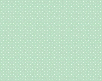 White Swiss Dot On Mint  (C670 Mint)
