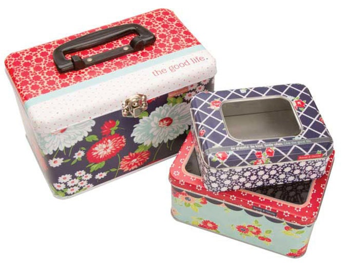 Featured listing image: The Good Life Nested Tins by Bonnie and Camille for Moda Fabrics