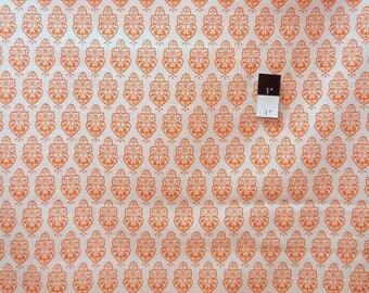 ON SALE Dena Designs LIDF002 Sunshine Ornament Orange Linen Fabric 1 Yd