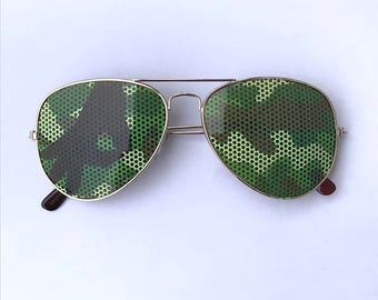 camoflauge gotcha game aviator sunglasses