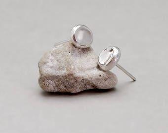 Sterling Silver Stud Earrings, Silver Post Earrings, Simple Earrings, Everyday Earrings, Silver Dots Posts, Small Stud Earrings, Basic Studs