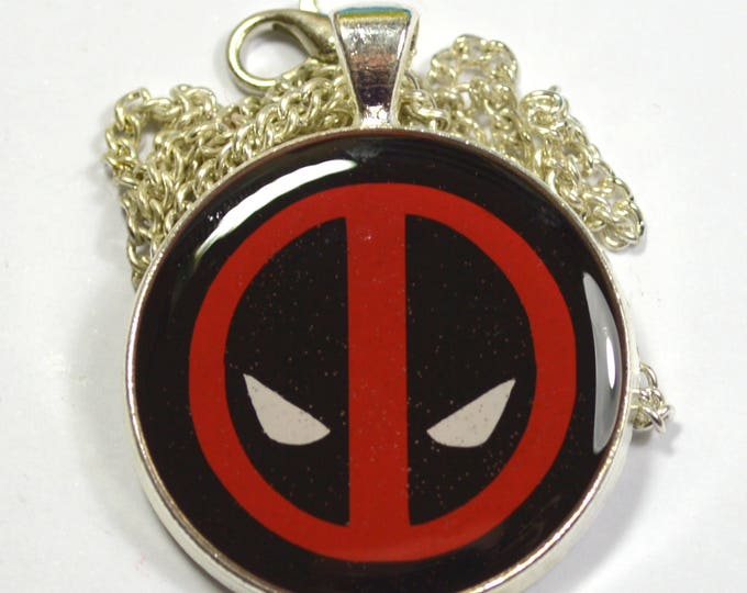 Deadpool Mask Logo Resin Pendant