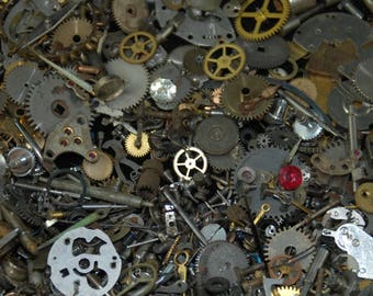1 oz 28 grams Vintage Watch movements parts cogs gears Steampunk Z 93