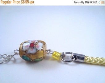 ON SALE Yellow Flower Cloisonne Cellphone Charm CH023 Cell Phone charm